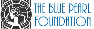 Blue Pearl Foundation Horizontal logo Blue text
