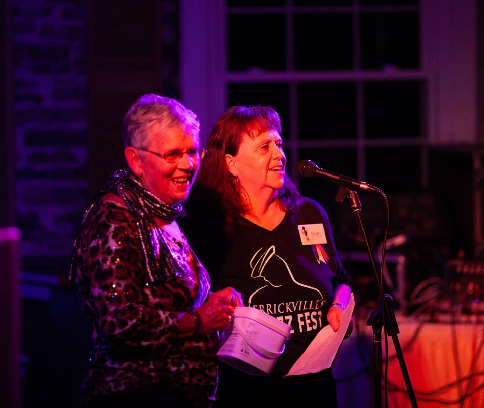 Peggy Holloway and Susan Piercey on opening night for MJF 2018